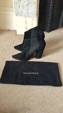 All Saints Black Ankle Boots Shoes Size 6