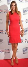 STELLA MCCARTNEY RED SLEEVELESS DRESS WITH KICK PLEAT IT 42 UK 10 US 6