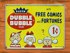 "TIN-UPS TIN SIGN ""Double Bubble"" Gum Food Ad Vintage Art Poster Man Cave"