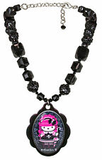 NEW Tarina Tarantino Black HELLO KITTY Pink Head Gothic Lolita Pendant Necklace