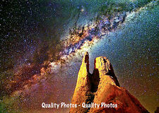 """Milky Way Galaxy Seen From Earth 8.5x11"""" Photo Print, Stars Astronomy Space Art"""