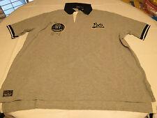Polo Ralph Lauren RL Mens shirt 2XB City Champs Basketball Patch Rugby Grey hthr