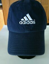 Adidas Navy Blue Baseball Cap Hat Sports Cotton Running Jogging Embroidered