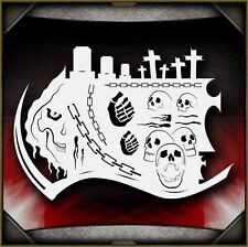 """Realm of the Reaper"" Airbrush Stencil Template Airsick"