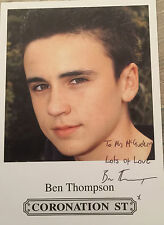 6x4 Hand Signed Photo of Coronation Streets Ryan Conor - Ben Thompson