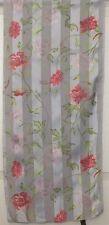 TERRIART Light Blue, Pink, Lavender Flowers Sheer 58x13 Long Scarf-Vintage