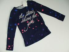 H&M Navy The Stars Shine For You Top Shirt Girls Girl Size 4 5 6 Years NWT NEW
