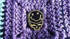 Dead Head Steal Your Grunge Band 90's Music Fest Smiley Face Skull Enamel Pin