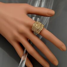 18K Gold Plated GP Topaz Crystal Rhinestone Adjustable Fashion Custom ring 00247