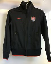 USMNT Nike USA Soccer Team Warm-Up Jacket SMALL Black FULL ZIP
