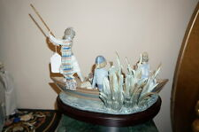 LLADRO 1731 VALENCIAN CRUISE with Base Limited Edition Retired Boat Ducks Kids