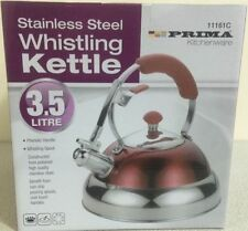 NEW Modern Red 3.5L Stainless Steel  Whistling Kettle Gas Electric Hob Camping