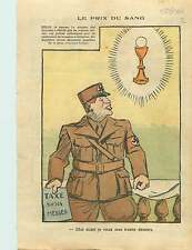 Caricature Politique Anti-Nazi Croix Gammée  Berlin Germany 1936 ILLUSTRATION