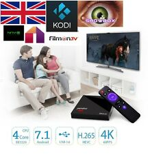 NUOVO più recente Android 7.1 Quad Core Kodi 16.1 TV BOX. SHOWBOX mobdro Sports XXX
