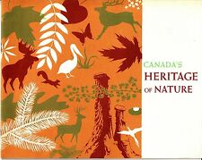 Canada's Heritage of Nature Vintage Booklet 1962 Parks Photos
