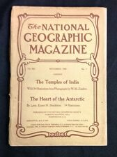 """November 1909 """"National Geographic"""" Magazine Heart of theAntartica VG+"""