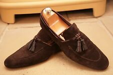 Tom Ford Mens Made in Italy Brown Suede Tassel Loafers Shoes UK 8.5
