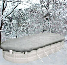 15'x30' Oval Above Ground Winter Swimming Pool Solid Cover 20Yr >REINFORCED HEM