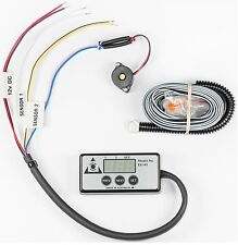 DIGITAL COOLANT TEMPERATURE GAUGE with ALARM Engine Guard EG01/1 BOLT-ON SENSOR