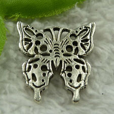 free ship 60 pcs tibet silver butterfly charms 25x24mm #3902