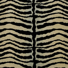 CLARENCE HOUSE EXCLUSIVE SILK FABRIC 3 YARDS ZEBRA VELOURS SOIE