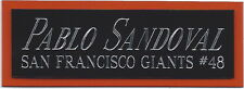 PABLO SANDOVAL GIANTS NAMEPLATE AUTOGRAPHED Signed Baseball Display CUBE CASE