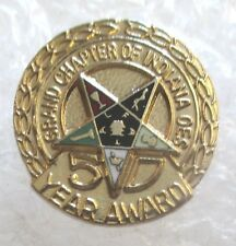 Vintage OES Order of the Eastern Star 50 Year Pin-Grand Chapter Indiana Masonic
