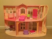 Barbie Doll 3-Story Dream House Sounds Furniture Movable Stairs Mattel RARE HTF!
