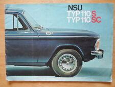 NSU TYP 110 S & SC orig 1966-68 UK Mkt prestige sales brochure
