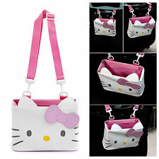 Genuine Hello Kitty Car Accessory Multi purpose Utility Case Pink Bowr Vehicle