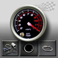 "EXHAUST TEMP GAUGE BAR 52mm 2"" SMOKED FACE 7 COLOUR DASH DISPLAY GAUGE MOUNT POD"