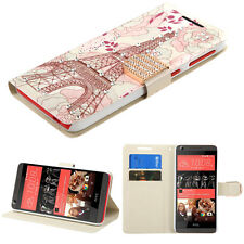 For htc Desire 626 626S 530 EIFFEL TOWER DIAMOND WALLET  COVER CASE