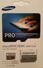 Samsung 32gb pro micro sd card and adapter class 10 performance