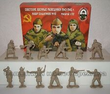 Bassevich. WW2 Women Soldiers and Military Scouts 1/32 plastic toy figures
