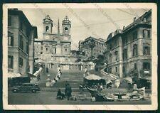 Roma Città Scalinata Chiesa Trinità dei Monti Auto PIEGHINA FG cartolina VK2192