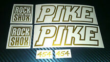 2 ROCKSHOX PIKE  Decals stickers Bike Fork 454 426