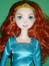 Redhead Disney Merida Brave Doll & Original Dress and Crown ~Good Used Condition