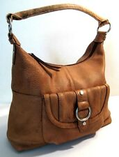 Fossil Tan Genuine Leather W/Defect Hobo Satchel Shopper Shoulder Bag Purse Hand