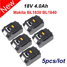 5 X 4.0AH 18Volt Lithium-Ion LXT Battery For Makita BL1830 BL1840 Cordless Drill