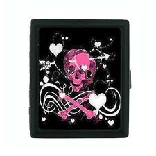 Metal Cigarette Case Holder Box Skull Design-010