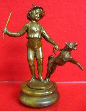 Bronze Hund Junge Figur Sculpture Schäferhund  Bronzefigur ca. 1900