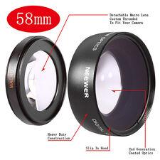 Neewer 58mm 0.45x Grandangolare Obiettive per Canon EOS 70D 60D 50D 40D 30D 5D