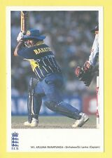 CRICKET - CLASSIC CRICKET POSTCARD - NO. 141  -  ARJUNA RANATUNGA OF SINHALESE