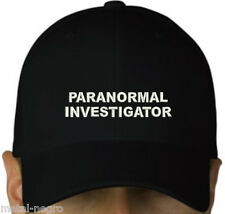 PARANORMAL INVESTIGATOR EMBROIDERED CAP HAT OCCULTISM GHOST BUSTERS Metal Negro
