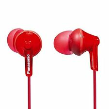 Panasonic RP-HJE125-R  ErgoFit In-Ear Earbuds - RED-  Brand New- Free Shipping