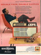 PUBLICITE ADVERTISING 0314   1959   SOCRADEL ARMOR  transistor  double cadran
