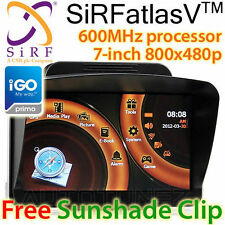 "7"" GPS HD Car Navigation System SiRF atlas V Sat Nav Portable Tunez iGO Primo OZ"