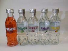 Finlandia Vodka 37,5% Set 5 x 50 ml MINI BOTTIGLIE BOTTLE miniature bottela