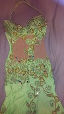 professional green bellydance dress belly dance outfit costume