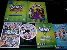 THE SIMS 3 AMBITIONS EXPANSION PACK COMMEMORATIVE EDITION PC/MAC DVD FAST POST